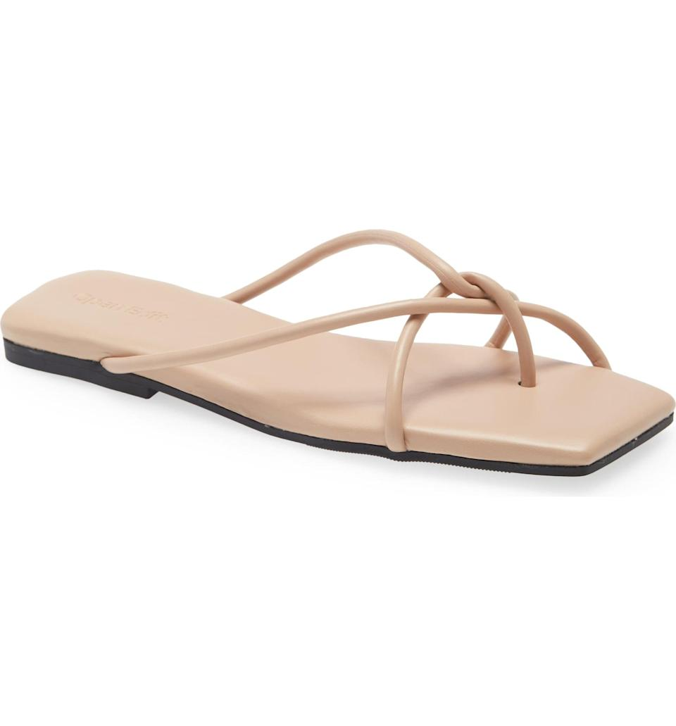 <p>These <span>Open Edit Odin Flip Flops</span> ($40) are not your average sandals, thanks to the chic strap details and neutral color.</p>