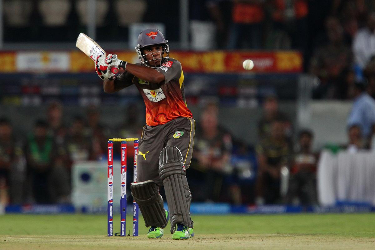 Hanuma Vihari during match 25 of the Pepsi Indian Premier League between The Sunrisers Hyderabad and The Kings XI Punjab held at the Rajiv Gandhi International  Stadium, Hyderabad  on the 19th April 2013. (BCCI)