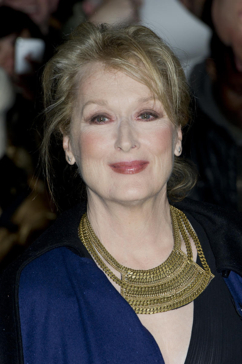 U.S actress Meryl Streep arrives for the European premiere of The Iron Lady, at a central London venue, Wednesday, Jan. 4, 2012. (AP Photo/Jonathan Short)