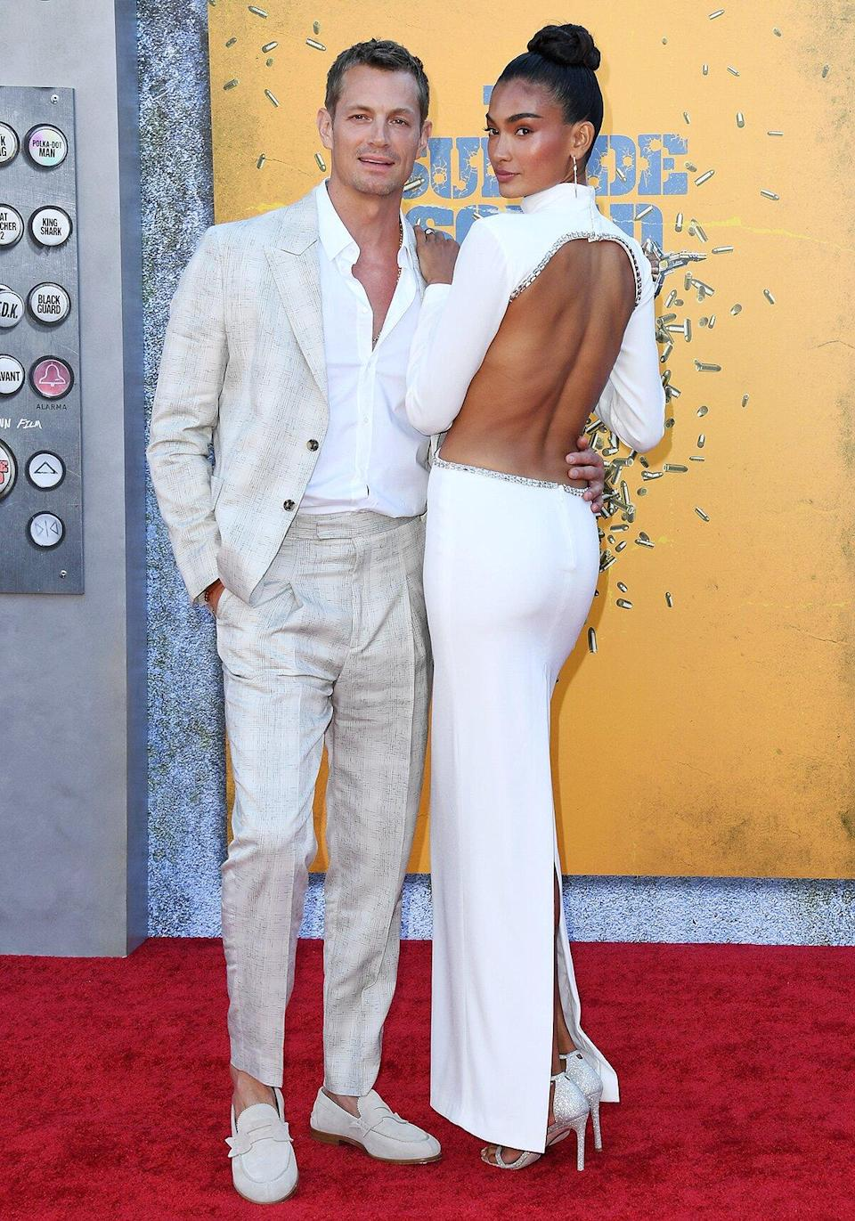 """Joel Kinnaman and Kelly Gale attend Warner Bros. Premiere Of """"The Suicide Squad"""" at The Landmark Westwood on August 02, 2021"""