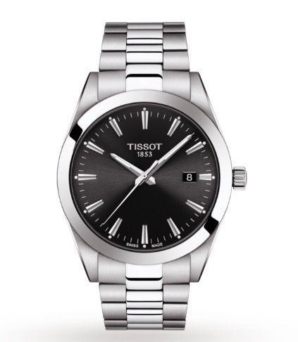 """<p>T-Classic</p><p><a class=""""link rapid-noclick-resp"""" href=""""https://www.watches-of-switzerland.co.uk/Tissot-T+Classic-40mm-Mens-Watch-T1274101105100/p/17361171/"""" rel=""""nofollow noopener"""" target=""""_blank"""" data-ylk=""""slk:SHOP"""">SHOP</a><br></p><p>Competitively priced, no nonsense steel watch that won't let you down. Tissot's T-Classic watch line is all about pairing Swiss-made tradition with go-anywhere appeal. Also available with a blue dial.</p><p>£320; <a href=""""https://www.tissotwatches.com/"""" rel=""""nofollow noopener"""" target=""""_blank"""" data-ylk=""""slk:tissotwatches.com"""" class=""""link rapid-noclick-resp"""">tissotwatches.com</a></p>"""