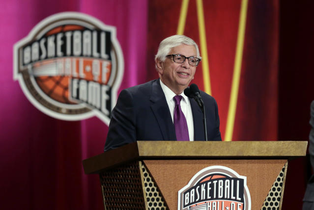 A number of current and former NBA players paid tribute to David Stern. (AP Photo/Charles Krupa)