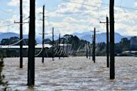 A flooded residential area in the Windsor suburb of northwestern Sydney on March 24, 2021.