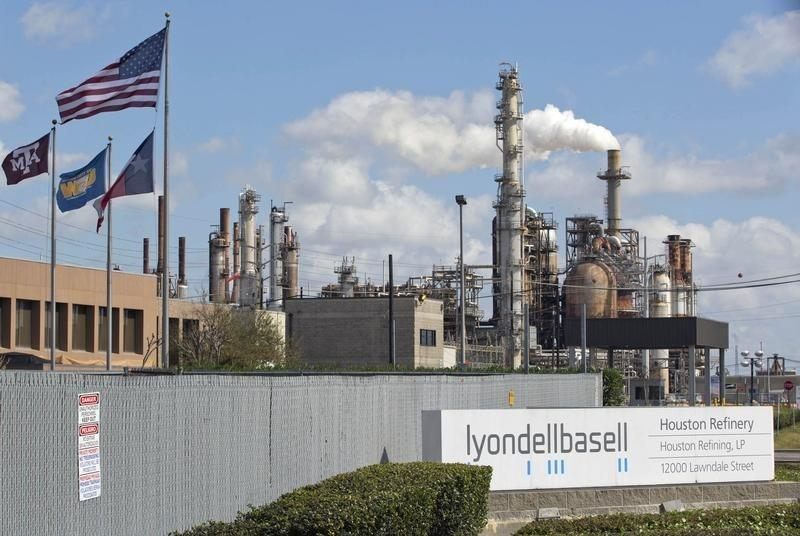 A general view of the Lyondell-Basell refinery in Houston