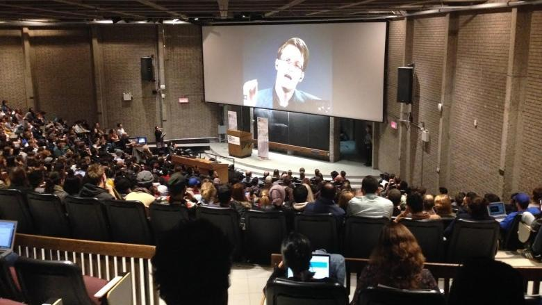 Edward Snowden talks surveillance at McGill University