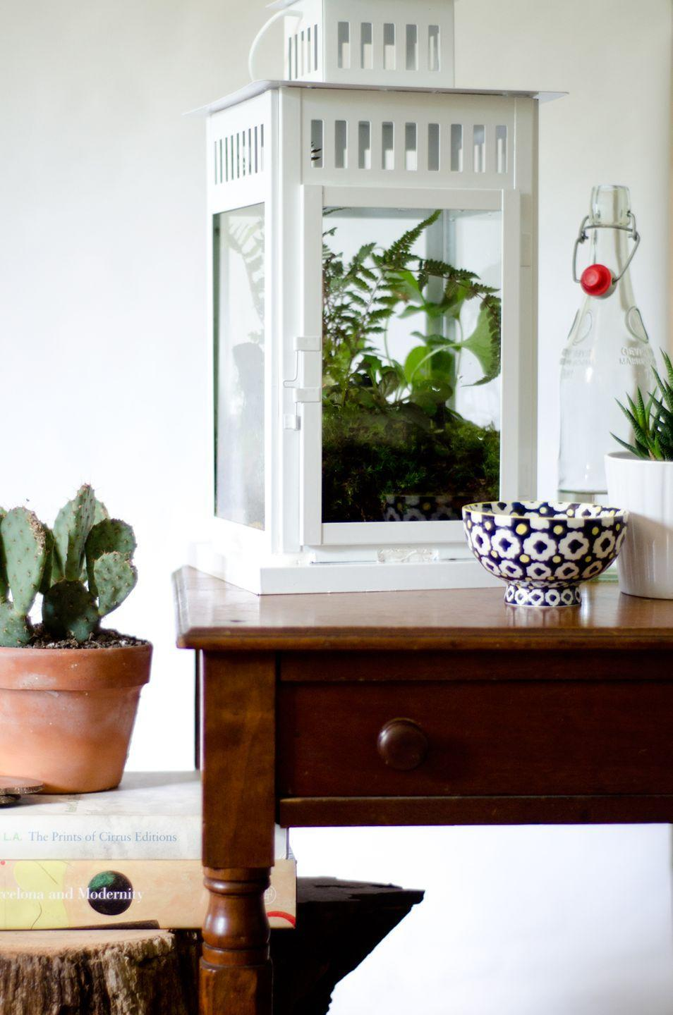 """<p>Potting soil, charcoal, gravel, and plants fill the lantern with an earthy brightness. The result is both decorative and super low maintenance.</p><p>See more at <a href=""""http://www.thouswell.co/ikea-hack-diy-lantern-terrarium/"""" rel=""""nofollow noopener"""" target=""""_blank"""" data-ylk=""""slk:Thou Swell"""" class=""""link rapid-noclick-resp"""">Thou Swell</a>.</p><p><em><em><em><em><a class=""""link rapid-noclick-resp"""" href=""""https://www.amazon.com/Exotic-Pebbles-PMS0510-Polished-Gravel/dp/B006MKZHFU/?tag=syn-yahoo-20&ascsubtag=%5Bartid%7C2089.g.29514474%5Bsrc%7Cyahoo-us"""" rel=""""nofollow noopener"""" target=""""_blank"""" data-ylk=""""slk:BUY NOW"""">BUY NOW</a> <strong>Gravel, $12, <span class=""""redactor-unlink"""">amazon.com</span></strong></em></em></em></em></p>"""
