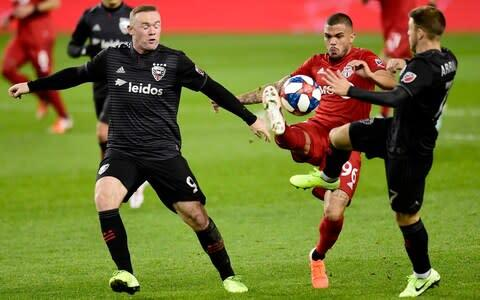 <span>DC United's season ended on Saturday night after they were thrashed 5-1 by Toronto FC in the play-offs</span> <span>Credit: AP </span>
