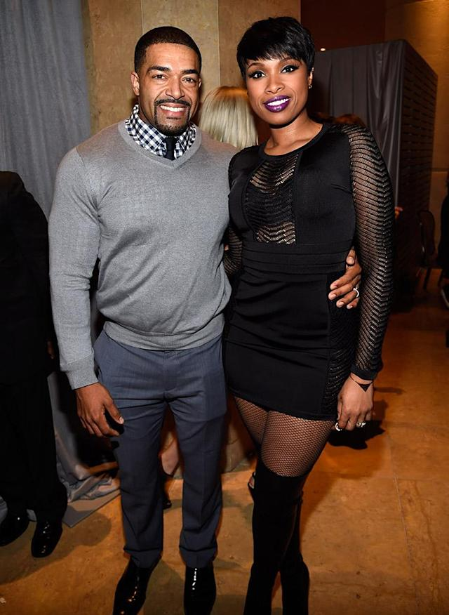 """<p>When the <em>American Idol</em> alum <a href=""""http://www.tmz.com/2017/11/28/jennifer-hudson-david-otunga-custody-order-of-protection/"""" rel=""""nofollow noopener"""" target=""""_blank"""" data-ylk=""""slk:filed for divorce"""" class=""""link rapid-noclick-resp"""">filed for divorce</a> after 10 years of marriage, she obtained an order of protection alleging the former wrestler acted aggressively towards her and her son. She eventually dropped the order and Otunga was awarded primary physical custody while a formal arrangement gets sorted out. (Photo: Kevin Mazur/WireImage) </p>"""