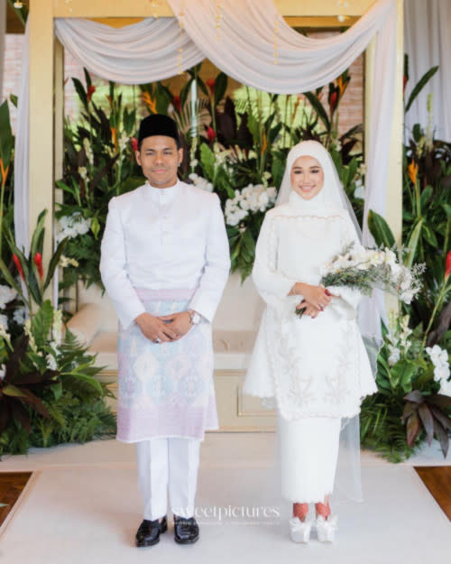Ernie and Syamel previously announced their marriage on 26 March