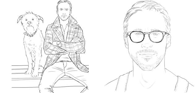 Ryan Gosling stars in his own colouring book
