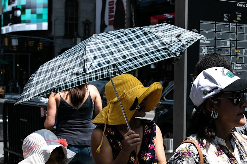 """(Bloomberg) -- The U.S. East Coast will only have to wilt under the thumb of an oppressive heat wave for one more day before temperatures plummet and relief is heralded by heavy rain and thunderstorms.Heat combined with high humidity created a potential deadly mix of oppressive conditions across the central and eastern U.S. for the past few days, canceling outdoor activities and sending energy use rocketing up. While all-time records didn't fall, records for the date were set at John F. Kennedy International Airport in New York, where readings reached 99 degrees Fahrenheit, and in Manchester, New Hampshire.""""Today, across New England and the mid-Atlantic this will be the last day,"""" said Rich Otto, a forecaster with the U.S. Weather Prediction Center in College Park, Maryland. """"The relief is coming from the west.""""Heat advisories and excessive heat warnings on Sunday stretched from Oklahoma to Ohio and along the East Coast from Maine to South Carolina. The combination of high temperatures and humidity would make it feel as hot as 110 degrees in New York and Washington. Some spots could even feel warmer.Pools, TriathlonsA triathlon scheduled for the weekend in New York was called off, along with a 10-mile (16-kilometer) marathon training run in Central Park. Public swimming pools run by the city's Parks Department are staying open for an extra hour. Horse racing was canceled on Saturday at the Saratoga Race Course, about 180 miles north of the city. It's been 13 years since extreme heat caused that to happen, the New York Racing Association said.Relief has already arrived in Chicago, where Sunday's high was only set to reach 76 degrees down from 95 on Saturday, the National Weather Service said.High temperatures across the Great Plains and Midwest will fall 10 to 20 degrees below normal as the front passes, Otto said.""""It will be significantly cooler than what they have been seeing,"""" Otto said. """"That cool weather is going to stick around for a good part of this week.""""Rea"""