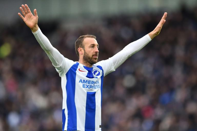 Glenn Murray celebrates his 100th goal for Brighton, which secured a 1-0 win at home to Wolves