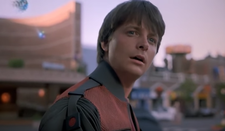 Michael J. Fox in 'Back to the Future: Part II'