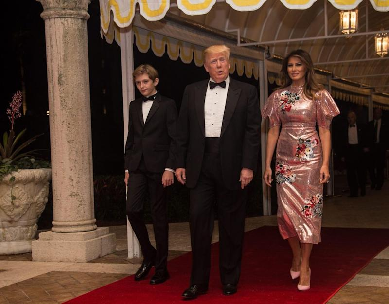 Melania Trump wore a $7,300 gown on New Year's Eve. Photo: Getty Images