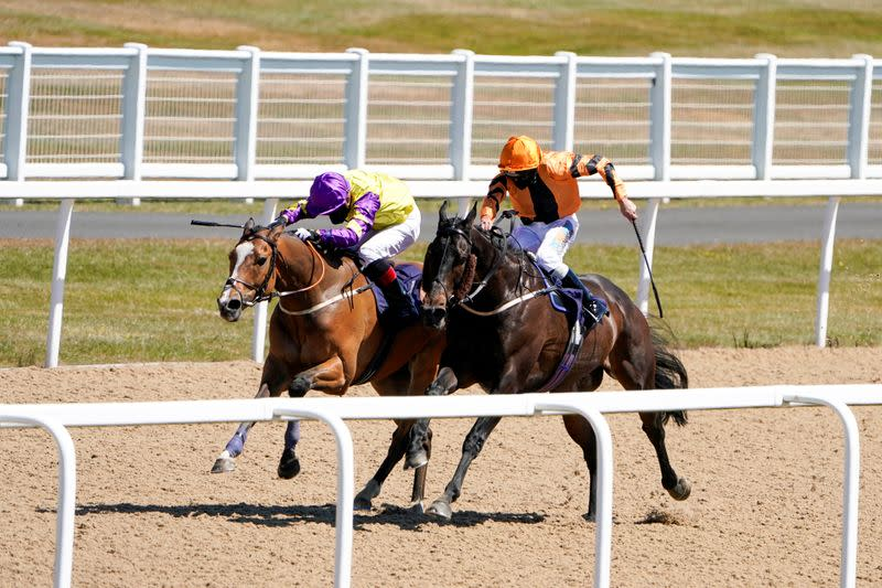 Horse Racing: Thrumming hooves mark return of English sport at Newcastle