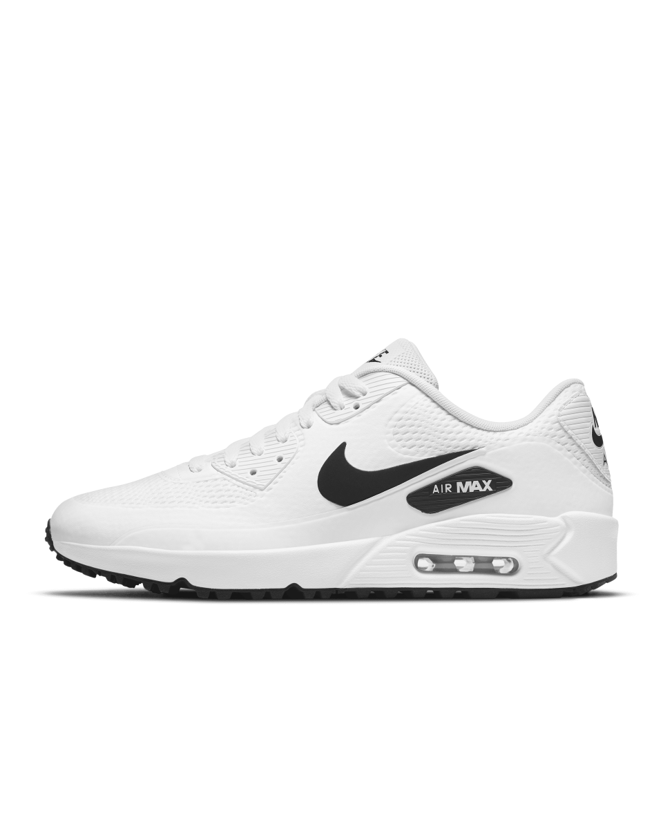 "<p><strong>Golf Shoe Nike Air Max 90 G </strong></p><p>nike.com</p><p><strong>$130.00</strong></p><p><a href=""https://go.redirectingat.com?id=74968X1596630&url=https%3A%2F%2Fwww.nike.com%2Ft%2Fair-max-90-g-golf-shoe-KLDMWk&sref=https%3A%2F%2Fwww.esquire.com%2Fstyle%2Fmens-fashion%2Fg36197949%2Fbest-golf-clothing-brands%2F"" rel=""nofollow noopener"" target=""_blank"" data-ylk=""slk:Shop Now"" class=""link rapid-noclick-resp"">Shop Now</a></p><p>Nike took its iconic Air Max 90 and golf-ified it. The Air Max 90 G features integrated traction and a thin overlay that helps keep out water. Yet another new golf shoe you can wear off the course with ease. </p>"