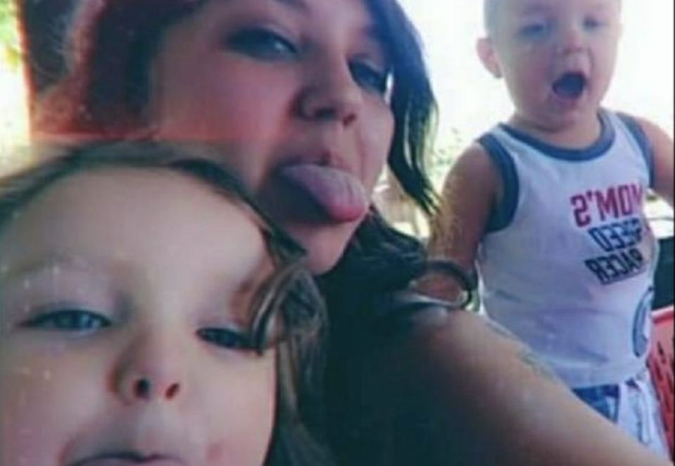 Selena Ann Bradley, pictured with her two children was pregnant with her third child. Source: GoFundMe