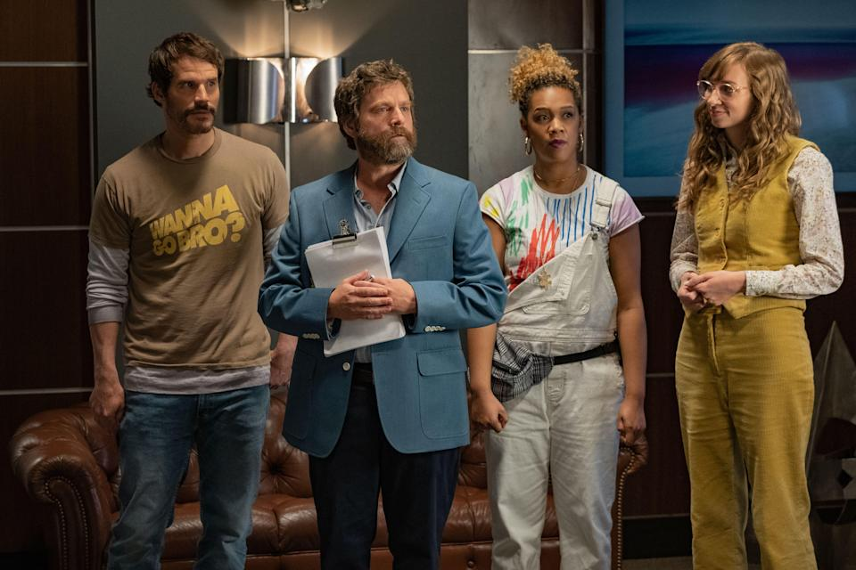 <p><strong><em>Between Two Ferns: The Movie</em>(2019)</strong></p><p>Zach Galifianakis stars in a spin-off movie based on his cult web series in which he conducts hilariously awkward interviews with A-list celebrities. It's been reported that Peter Dinklage, Bradley Cooper and Keanu Reeves could be among the guest stars.</p><p>Available 20th September</p>