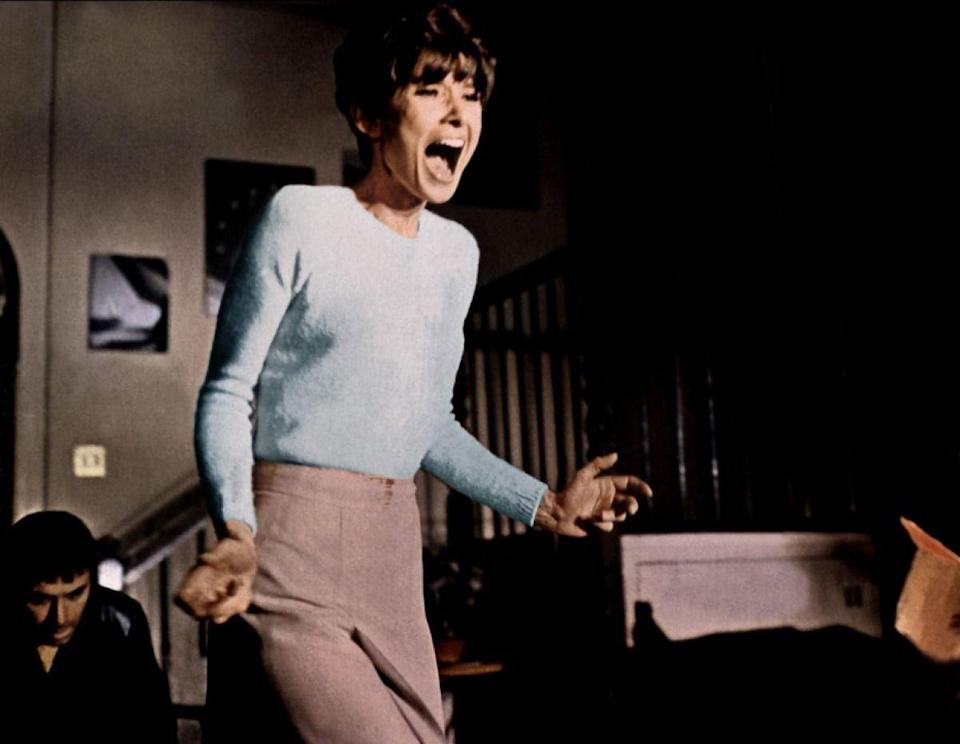 """<p><strong><em>Wait Until Dark</em></strong></p><p>A trio of thugs invade the home of a young blind woman (Audrey Hepburn). The role earned Hepburn an Academy Award nomination for Best Actress.<br></p><p><a class=""""link rapid-noclick-resp"""" href=""""https://www.amazon.com/Wait-Until-Dark-Audrey-Hepburn/dp/B002R25THI/?tag=syn-yahoo-20&ascsubtag=%5Bartid%7C10055.g.29120903%5Bsrc%7Cyahoo-us"""" rel=""""nofollow noopener"""" target=""""_blank"""" data-ylk=""""slk:WATCH NOW"""">WATCH NOW</a></p>"""