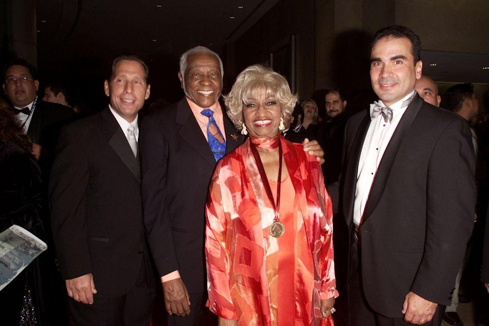 <p>Posing here with her husband, she attended the 2001 LARAS Person of the Year awards honoring Julio Iglesias at the Beverly Hilton Hotel. </p><p>Cruz passed away in 2003 from brain cancer at the age of 78.</p>