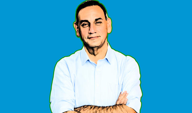 Gil Cisneros (Photo illustration: Yahoo News; photo: Angel De Leon/Cisneros for Congress via AP)