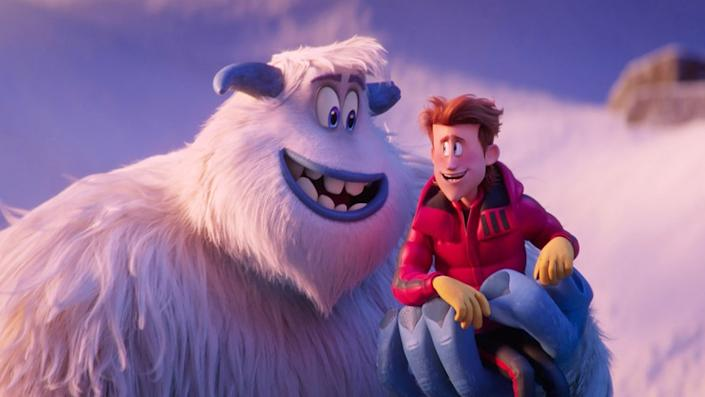 """(L-R) Migo voiced by CHANNING TATUM and Percy voiced by JAMES CORDEN in the new animated adventure """"SMALLFOOT,"""" from Warner Bros. Pictures and Warner Animation Group."""