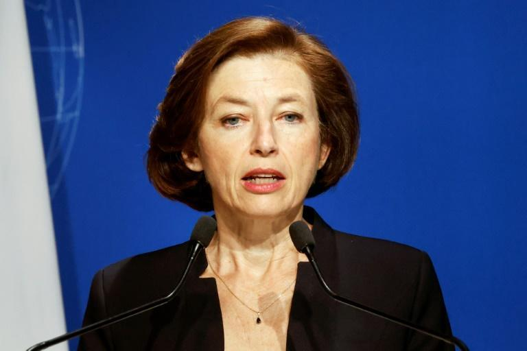 Defence Minister Florence Parly says Paris will not be able to 'cohabit' with 'mercenaries' (AFP/Ludovic MARIN)