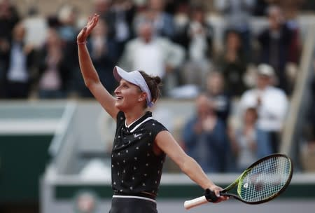 Martic into first Slam quarter-final in Paris