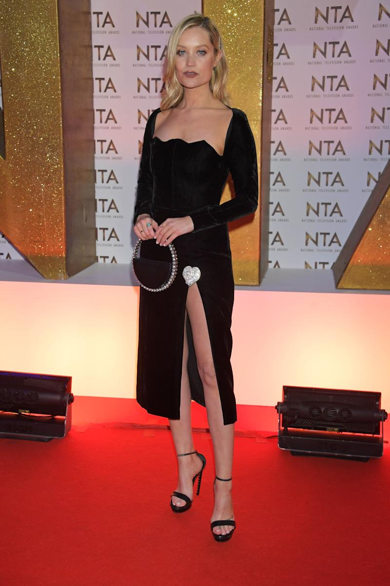LONDON, ENGLAND - JANUARY 28: Laura Whitmore attends the National Television Awards 2020 at The O2 Arena on January 28, 2020 in London, England. (Photo by David M. Benett/Dave Benett/Getty Images)