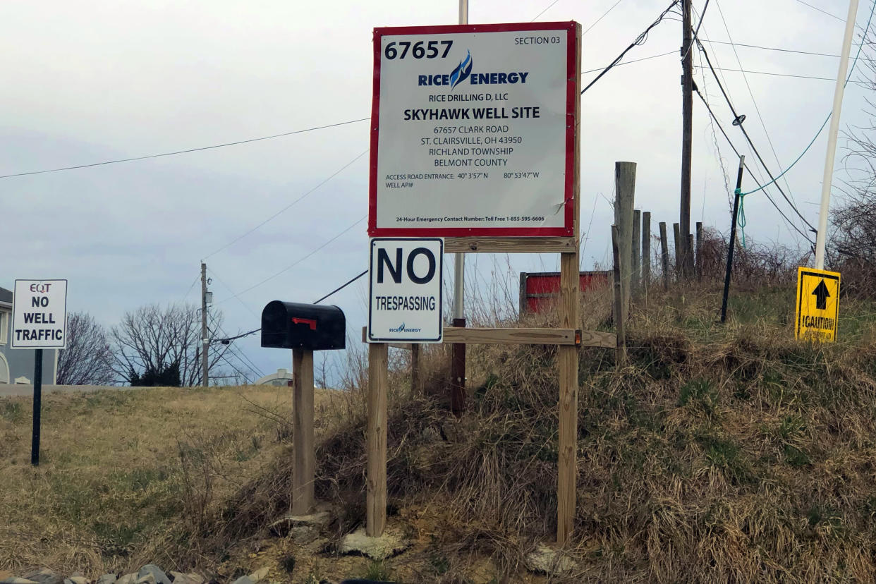 An entrance to what will be a fracking well in eastern Ohio. (Photo: Alexander Nazaryan/Yahoo News)