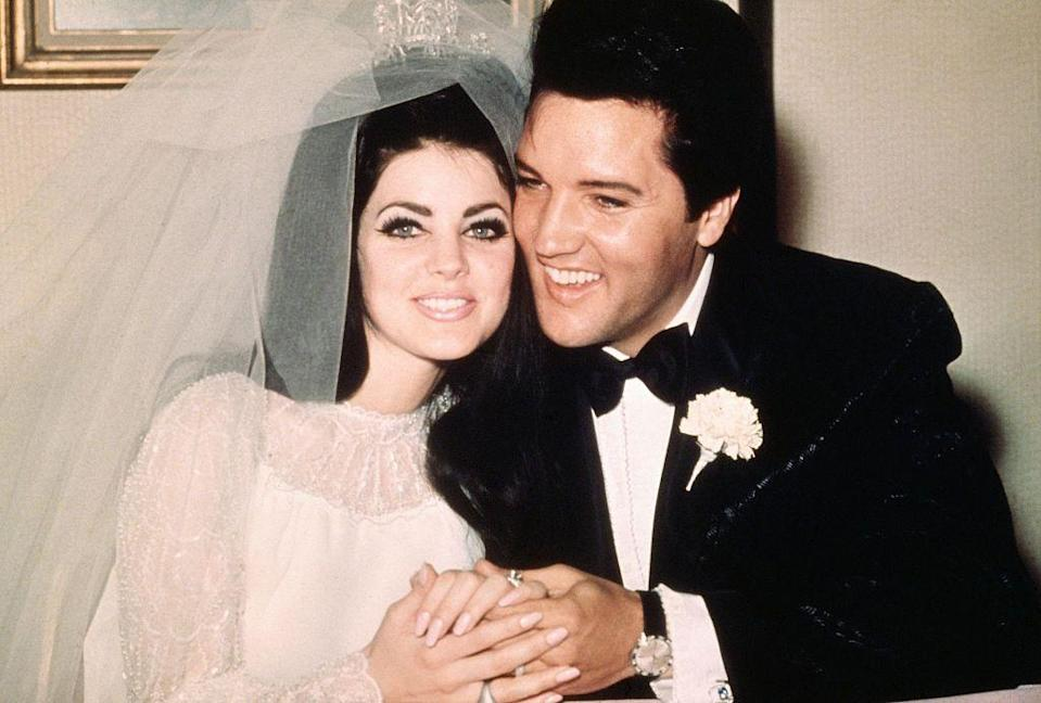 <p>American Priscilla Ann Beaulieu was only 14 years old when she met 24-year-old Elvis Presley in Germany in 1959, when he was serving in the U.S. Army (her step-father was in the U.S. Air Force and stationed there). They developed a relationship, and eventually Presley relocated her to the United States. They married on May 1, 1967, but divorced in 1973, after having a daughter, Lisa Marie.</p>