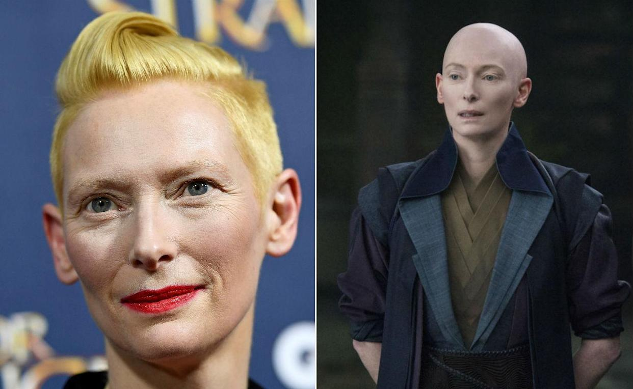 <p>Tilda has the snip and went hairless opposite Benedict Cumberbatch in the blazingly successful Doctor Strange. </p>