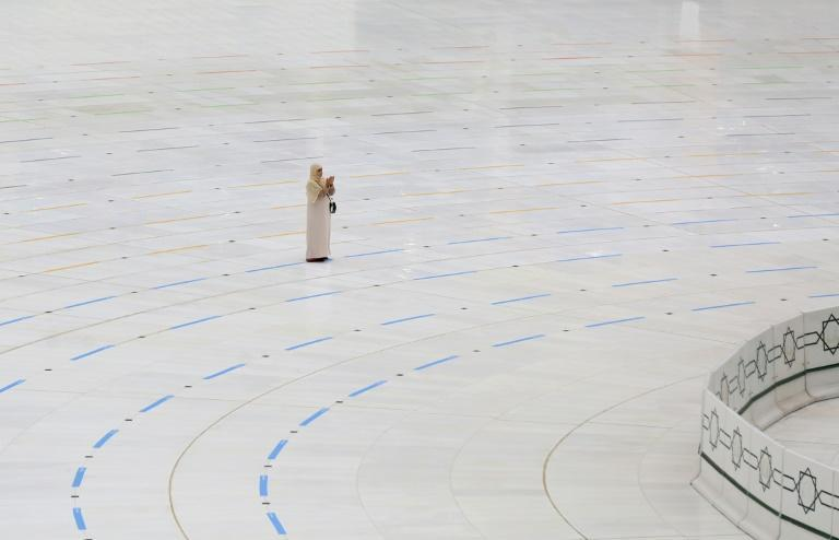 A woman pictured during last year's hajj pilgrimage, which was only open to around 10,000 people, according to local media
