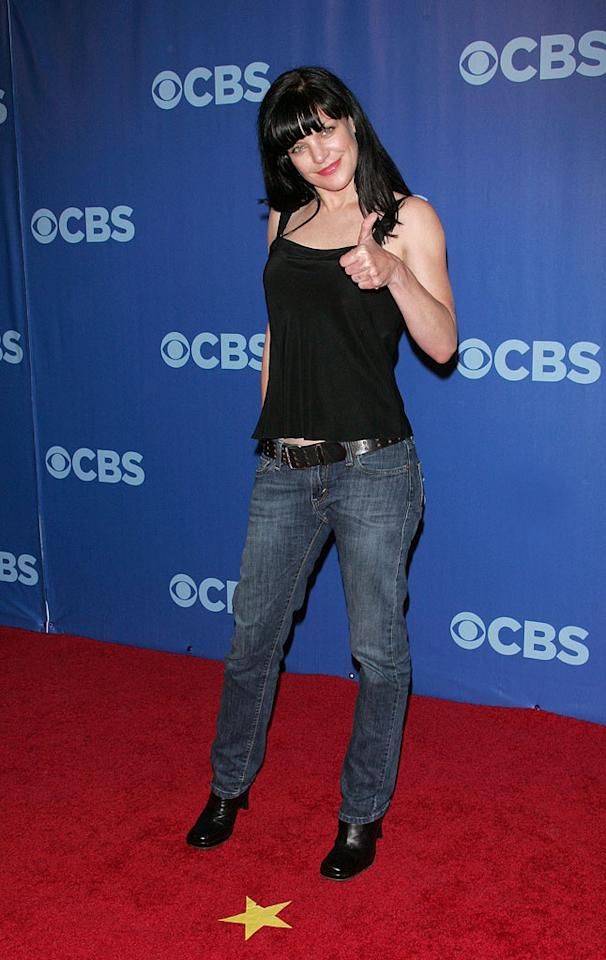 "<a href=""/pauley-perrette/contributor/815713"">Pauley Perrette</a> (""<a href=""/criminal-minds/show/38090"">Criminal Minds</a>"") attends the 2010 CBS Upfront at The Tent at Lincoln Center on May 19, 2010 in New York City."