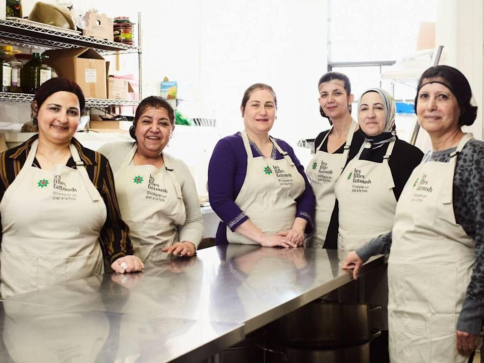 Since 2017, Les Filles Fattoush has employed 30 women who arrived to Quebec from Syria during the war. (Submitted by Charles Briand - image credit)