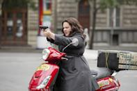 """<p>Directed by <em>Bridesmaids</em> auteur Paul Feig, <em>Spy</em> stars Melissa McCarthy as a desk-bound CIA employee who becomes a field agent. Jude Law, Rose Byrne, Jason Statham, Bobby Cannavale, and Allison Janney round out the cast in this hilarious action comedy.</p> <p><a href=""""https://www.amazon.com/Spy-Melissa-McCarthy/dp/B013EZQV6E"""" rel=""""nofollow noopener"""" target=""""_blank"""" data-ylk=""""slk:Available to rent on Amazon Prime Video"""" class=""""link rapid-noclick-resp""""><em>Available to rent on Amazon Prime Video</em></a></p>"""
