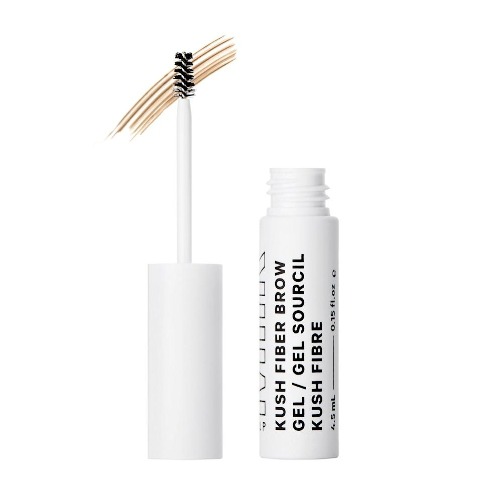 <p>The <span>Milk Makeup Kush Fiber Brow Gel</span> ($20) contains heart-shaped fibers that attach to your brow hairs and make them look thicker and fuller.</p>