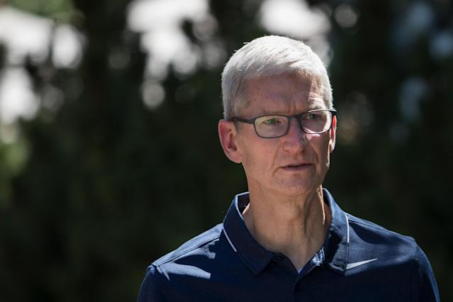 Apple CEO Tim Cook spoke about the Qualcomm dispute during an earnings call. Photo by Drew Angerer/Getty Images