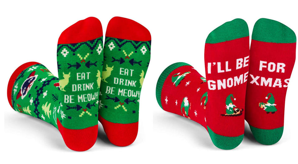 Lavley Funny Christmas Socks (Photo: Amazon)