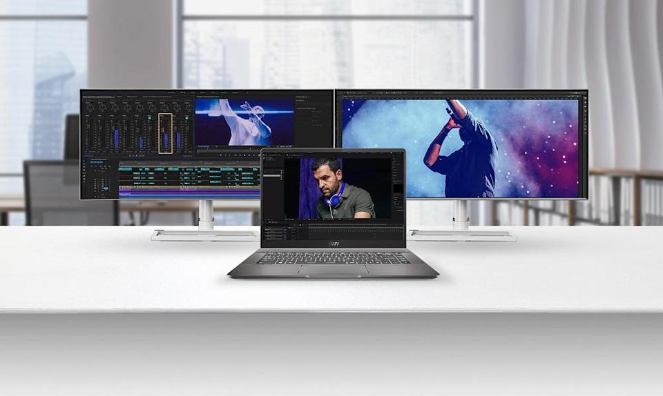 MSI's screen-sharing feature allows users to expand their vision across multiple screens for maximum productivity. ― Picture courtesy of MSI