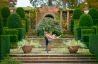 """<p>""""The Fountain Court is the centre of the formal gardens, with its box hedge topiary, fountains and grottos. It's also a favourite spot for yoga whenever the reticent English sun makes an appearance.""""</p>"""