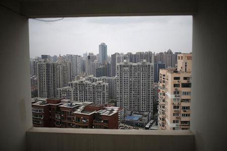 Buildings of a residential compound are seen in Shanghai