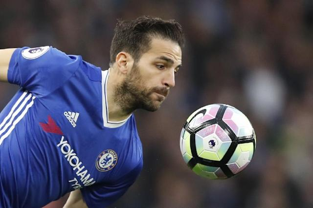 Chelsea's Cesc Fabregas, seen in action during their English Premier League match against Middlesbrough, at Stamford Bridge in London, on May 8, 2017 (AFP Photo/Adrian Dennis)