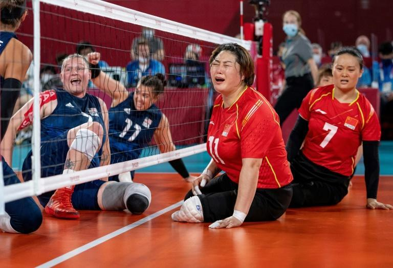 The United States and China met in the women's sitting volleyball final for the fourth straight Games (AFP/Thomas LOVELOCK)