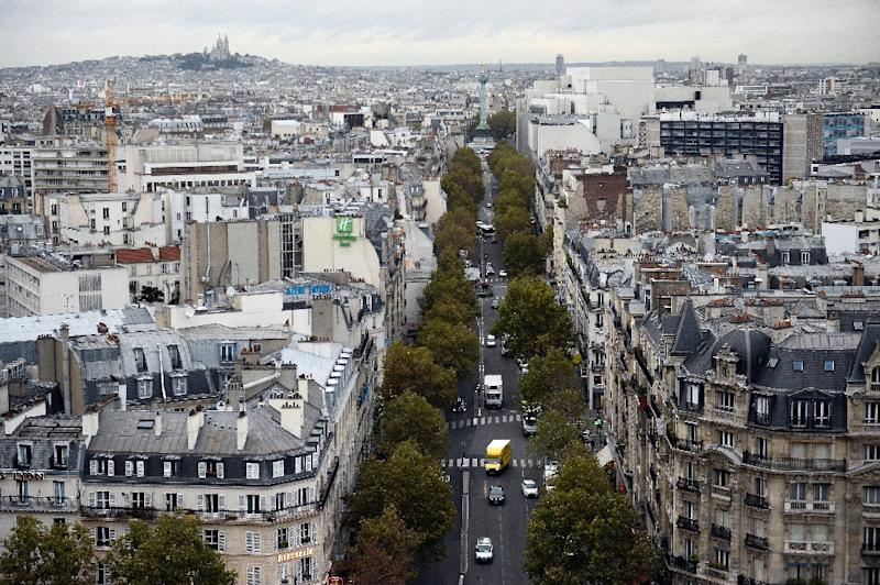 Rooftops on new buildings built in commercial zones in France, a view of Paris seen here, must either be partially covered in plants or solar panels, under a law approved on Thursday