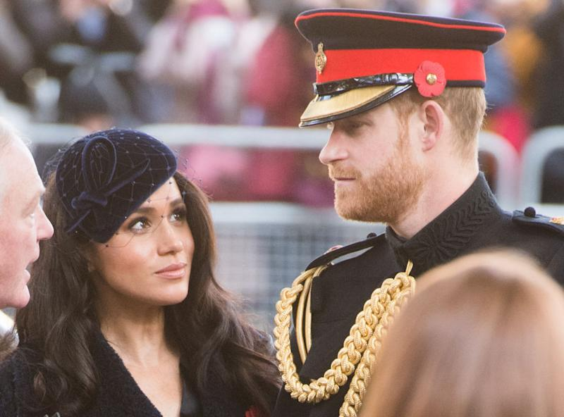 Pictured: Prince Harry and Meghan Markle, the two have announced plans to become financially indepedent. Image: Getty