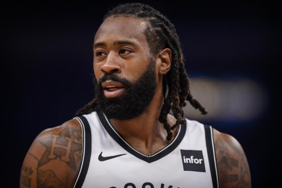 Oct 27, 2019; Memphis, TN, USA; Brooklyn Nets center DeAndre Jordan (6) in action during the game between the Nets and the Grizzlies at the FedExForum. Mandatory Credit: Jerome Miron-USA TODAY Sports