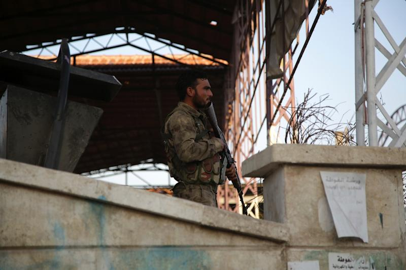 Turkey and its Syrian rebel proxies have led two previous offensives inside Syria, most recently seizing the northwestern enclave of Afrin from the Kurds last year (AFP Photo/Bakr ALKASEM)