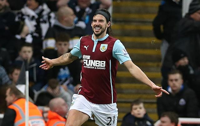 Burnley's midfielder George Boyd, pictured in 2015, scored in the second half against Stoke (AFP Photo/Ian MacNicol)