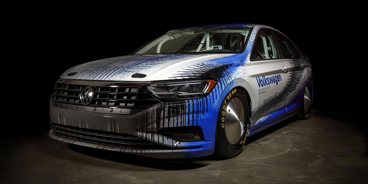 <p>A regular VW Jetta is a fine enough car. This one is different: With a heavily-modified version of the production EA888 2.0-liter turbo engine, it's built for outright speed. At the Bonneville Salt Flats this summer, Volkswagen hopes it'll surpass 209 miles per hour.</p>